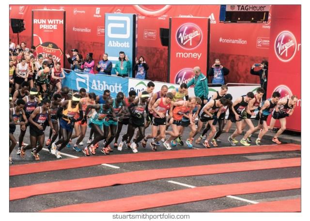 London Marathon Pictures - Elite Men's Race