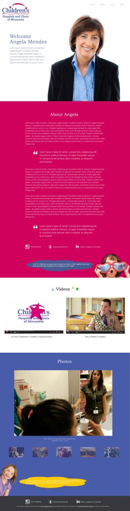 Children's Hospital MInnesota CEO Wireframes