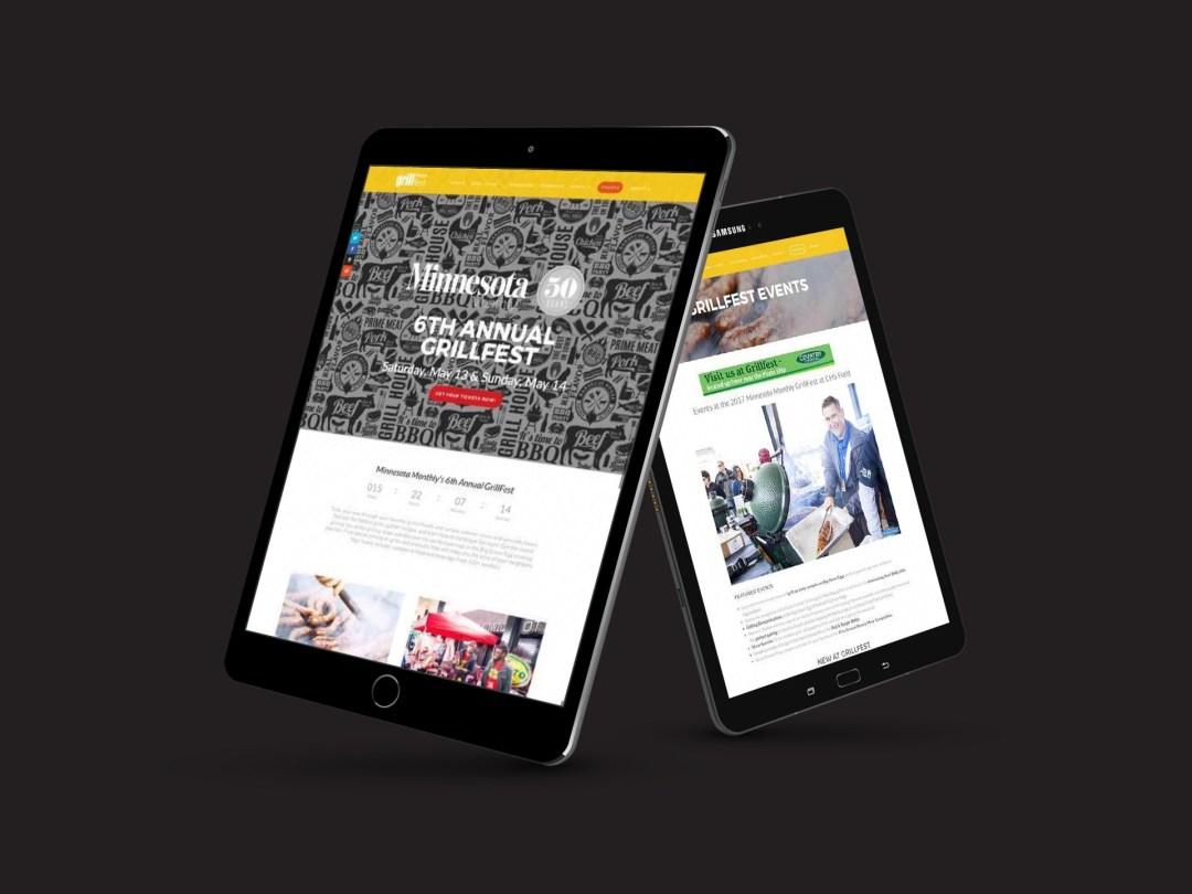 MNMO Grillfest website on desktop frame