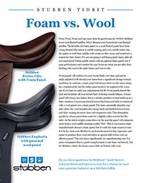 Stübben Tidbit - Foam vs. Wool