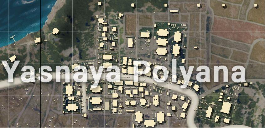 Yasnaya Polyana Location Erengal Map PUBG Mobile Classic Mode