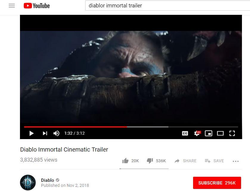 Blizzard entertainment diablo immortal cinematic trailer