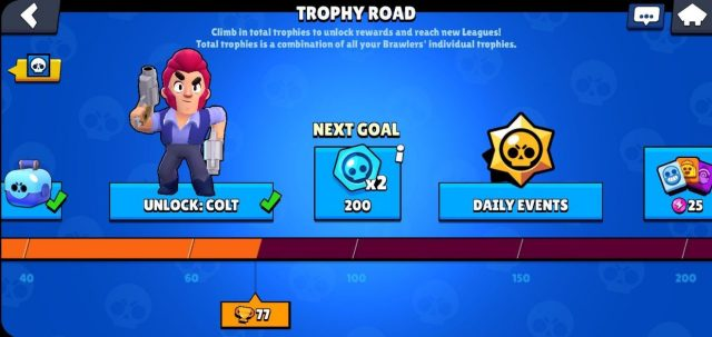 Trophy Road in brawl stars to win new brawlers