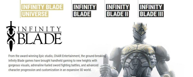 Infinity Blade I Infinity Blade II Infinity Blade III Series