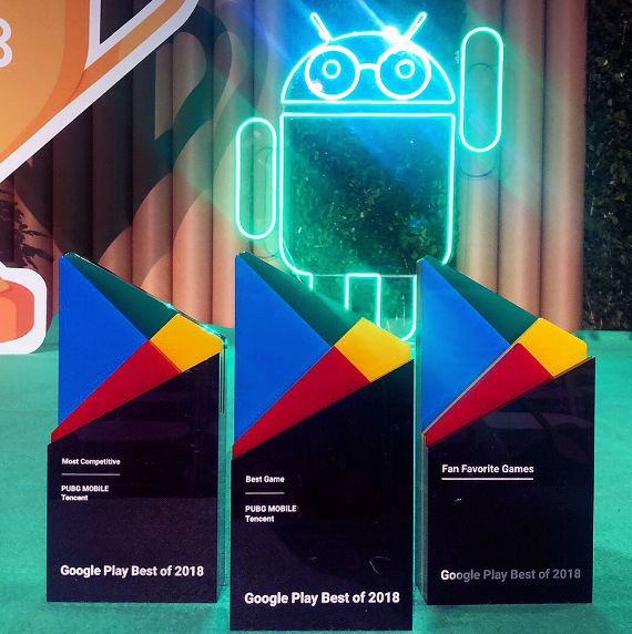 Google Play awards PUBG Mobile wins 3 awards best game most competitive and fan favorite games
