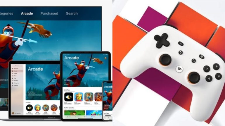 GOOGLE STADIA V APPLE ARCADE