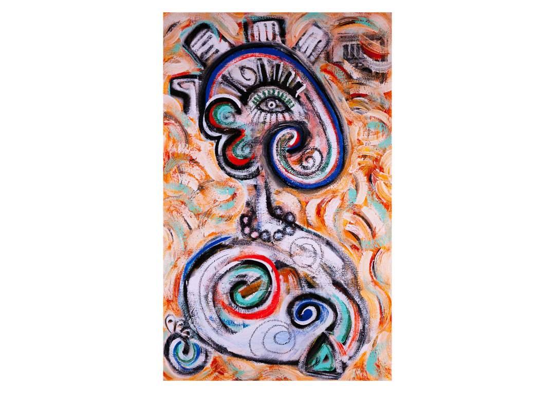 """Egyptian Beauty; 30"""" x 48"""", acrylic on canvas, 2015"""
