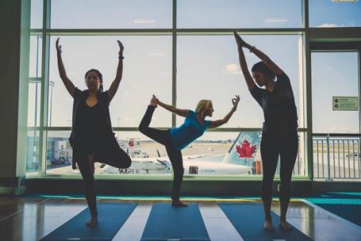 Image result for airport yoga