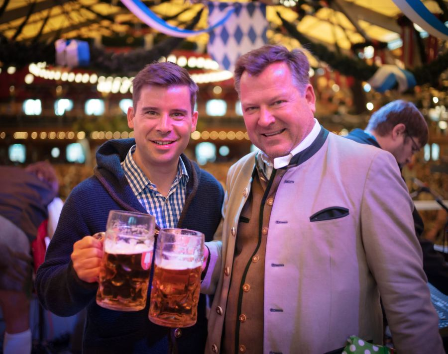Here's Felix, one of the organizers of Bits & Pretzels along with the major of Bavaria. I was honored to be invited up on the stage with these two as we all sang the mayor Happy Birthday! 