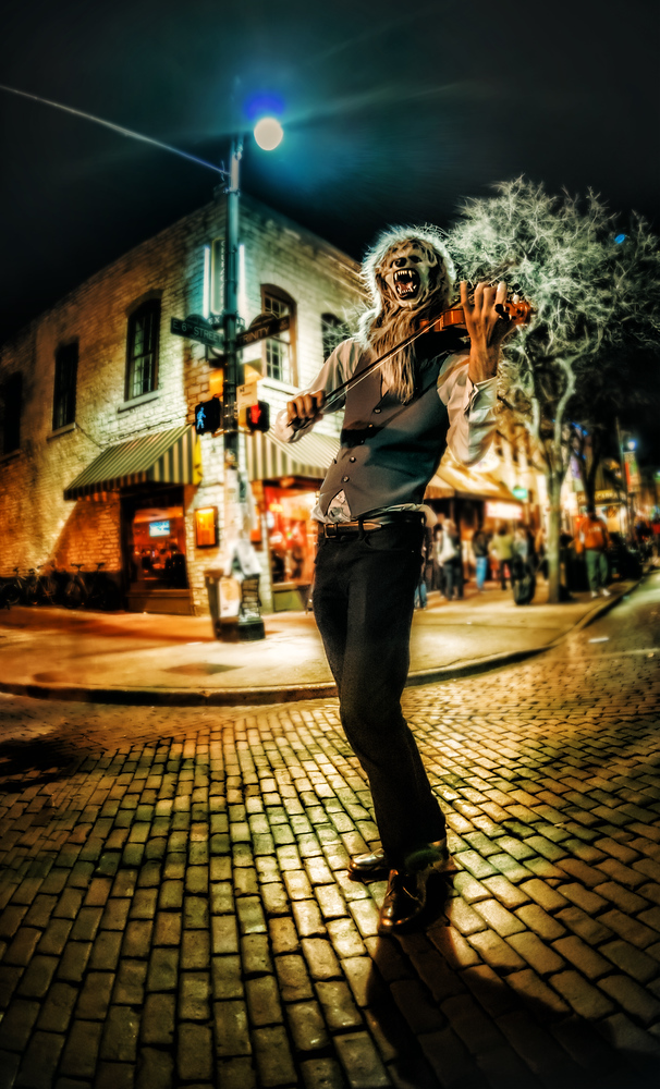 The Wolfman Violinith Here's my favorite photo from the Austin Photowalk … one of the many street performers howls into the streetlight moon… - Trey RatcliffClick here to read the rest of this post at the Stuck in Customs blog.