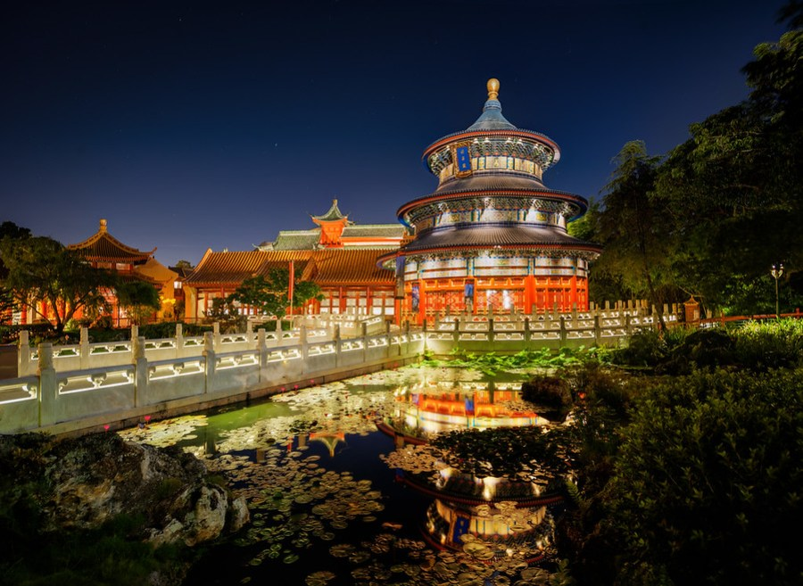 Ancient China No it isn't! This was shot at Disneyworld at Epcot center. Want to know a great Disney shooting trick? They won't like me telling you this… but I'll tell you anyway. The Disney people are very nice to me, but that won't stop me from being totally honest with tricky advice!The advice is this. Stay at a resort (this gives you extra hours), and be sure to go to Epcot on their extra-hours night. While there, get the the point as far away from possible as the exit gate at close time. Then you can slowly take your time and work your way back. You'll see no tourists or anyone! I saw this place almost totally alone… so cool!- Trey RatcliffClick here to read the rest of this post at the Stuck in Customs blog.
