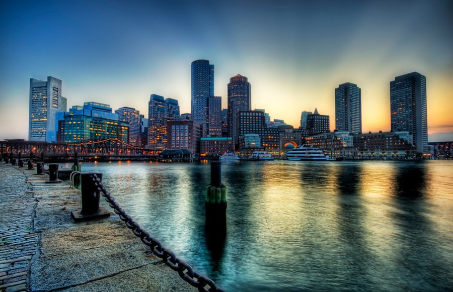 Boston at SunsetBoston is great and I am sad I've only spent a short amount of time there. On this evening, I walked along the waterfront here to look at all the various angles and light levels. They were all good! That's a sign of a good city when it is hard to take a bad photo of it!- Trey RatcliffRead more here at the Stuck in Customs blog.