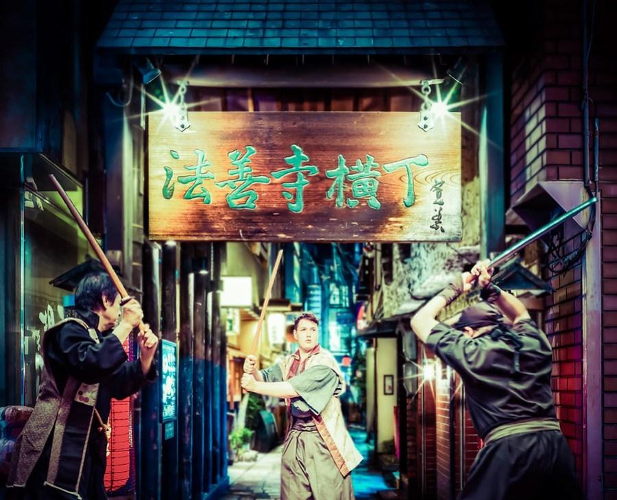 Ethan in a Street Fight in Osaka