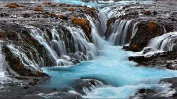 Brúarfoss waterfall. Photo my Martin Schulz.