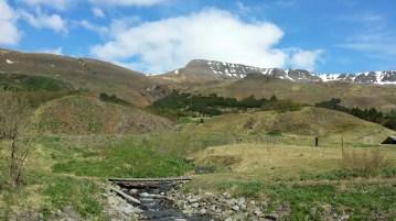 Mount Esja hiking trail.