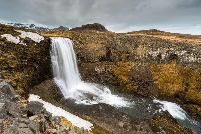 The wonderful Svöðufuss waterfall.
