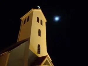 Icelandic Church at Christmas