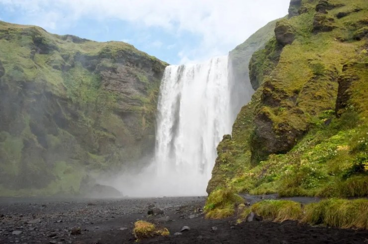 Skógarfoss Waterfall.