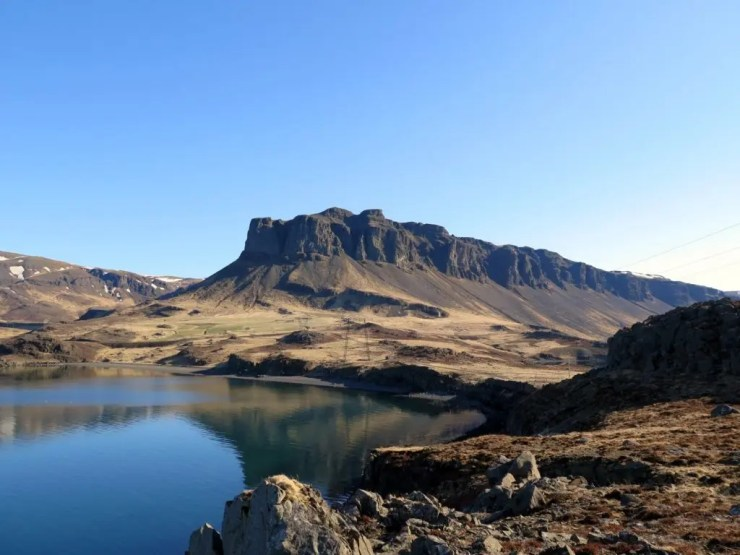 The Mountain Þyrill in the fjord of Hvalfjörður.