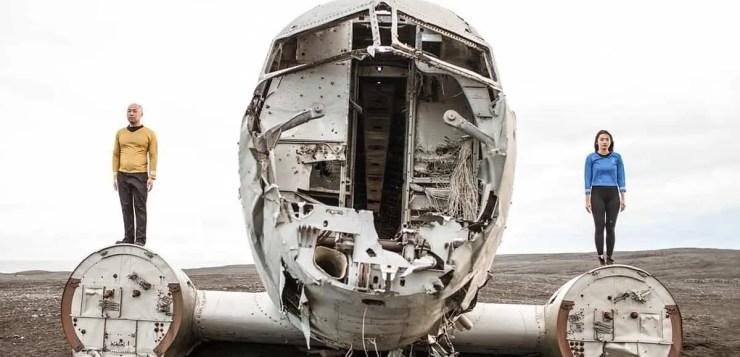 Douglas C-47 on the Sólheimasandur becomes an alien spaceship. Or something!