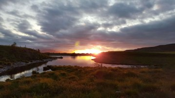 Midnight Summer Symphony in the North East of Iceland
