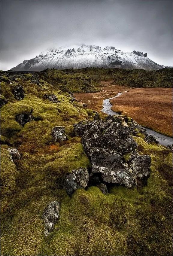 Snaefellsjokull glacier.