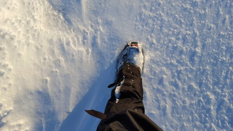 Snow was shallow but you needed crampons