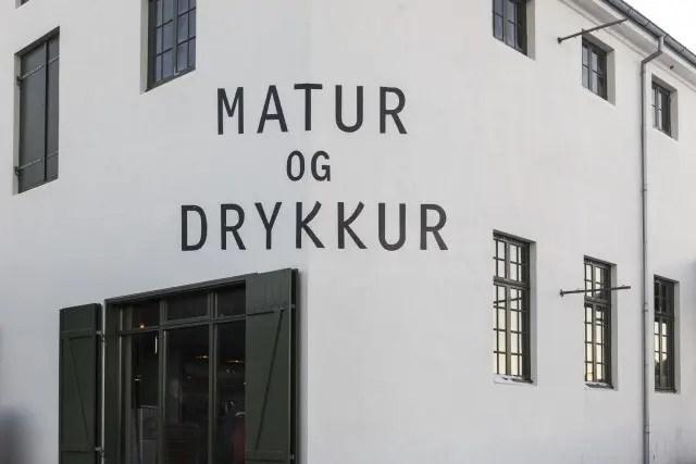Inside you find adventurous Icelandic cuisine.