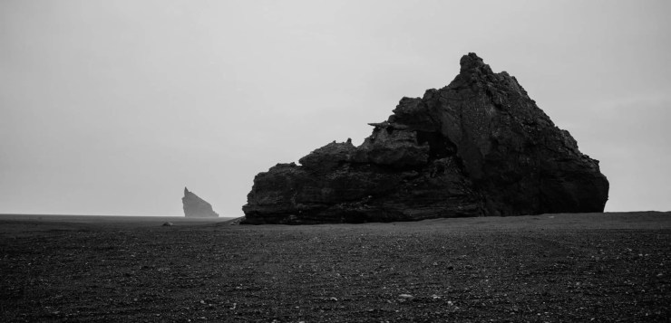 Still from the Solstafir video to the song Midaftann: Black sands near the vilage of Vík in the South of Iceland.