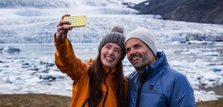 Selfie at Fjallsarlon glacial lagoon in the South of Iceland.