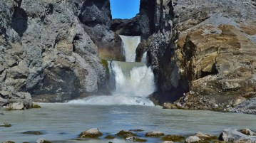 Nýi foss waterfall by Hagavatn lake. Currently endangered. You can help to save it.