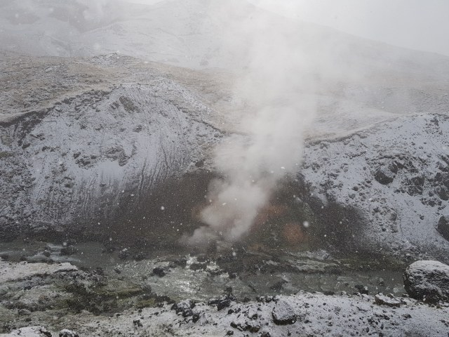 Steaming hotspring in Iceland.