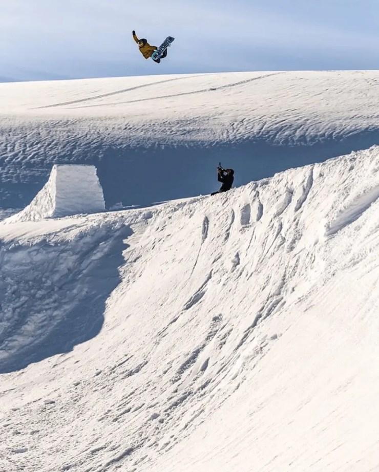 Icelandic snowboarding legend Eiki Helgason in Akureyri Iceland
