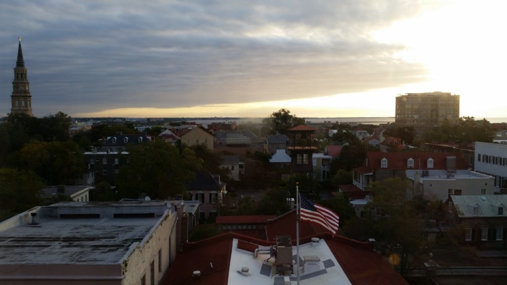 The view over downtown Charleston, SC from The Mills House.