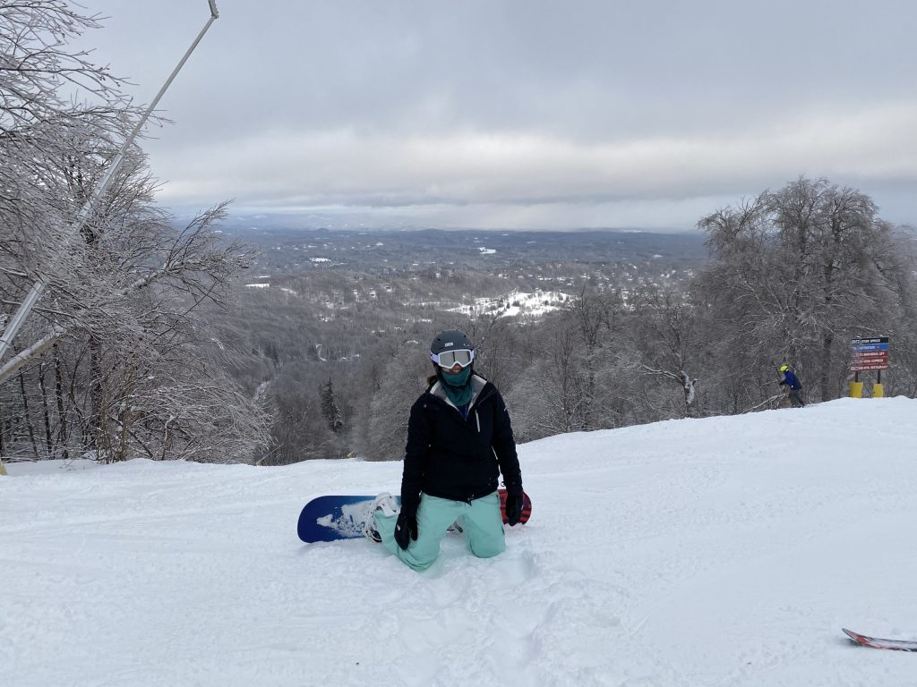 The views from Stratton Mountain even on a cloudy day are beautiful.