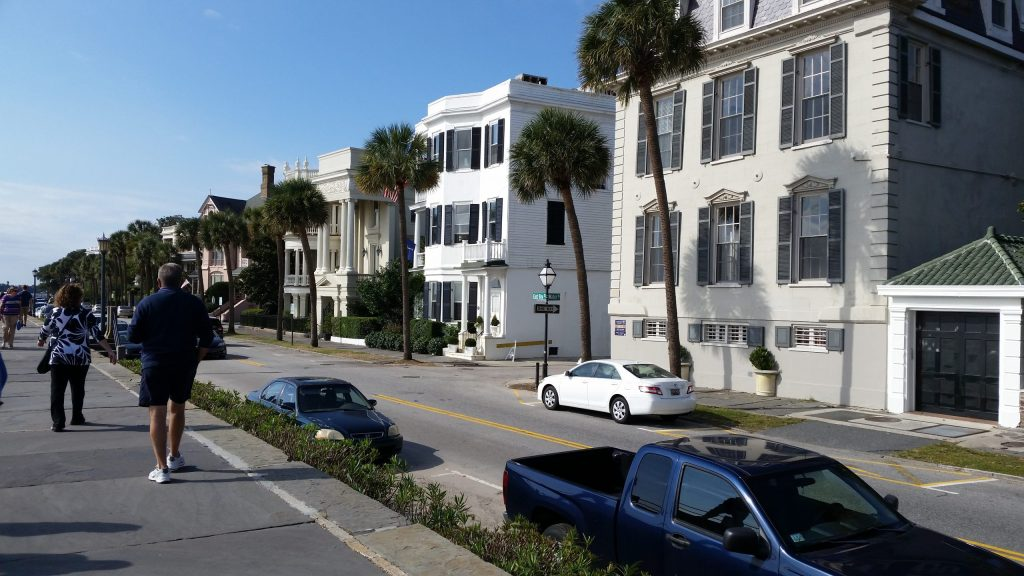 Mansions along The Battery in downtown Charleston, SC.