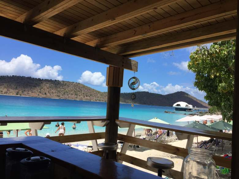 The view of Coki Beach, St. Thomas, USVI.