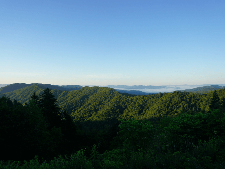 view of Smokies near best places to stay in the North Carolina Mountains