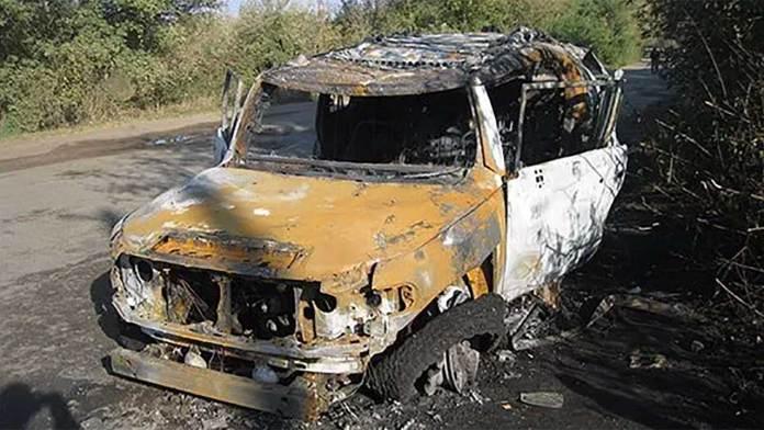 Под Харьковом из гранатомёта обстреляли внедорожник 3