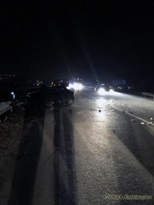 В Харькове столкнулись BMW и автобус - водитель иномарки погиб 3