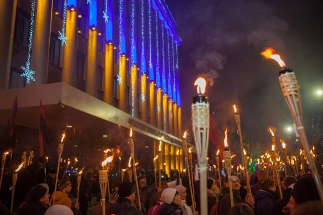 В Украине отпраздновали день рождения Степана Бандеры 4