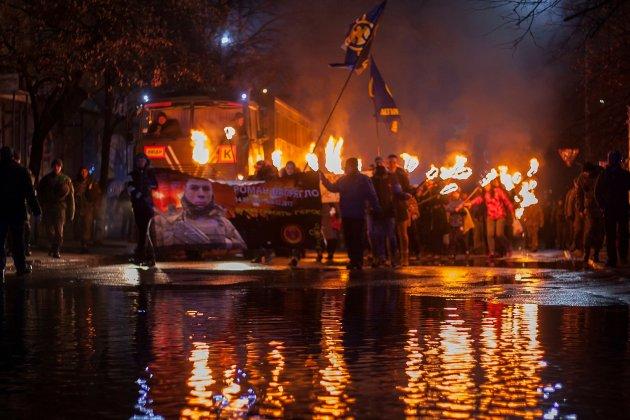 В Украине отпраздновали день рождения Степана Бандеры 1