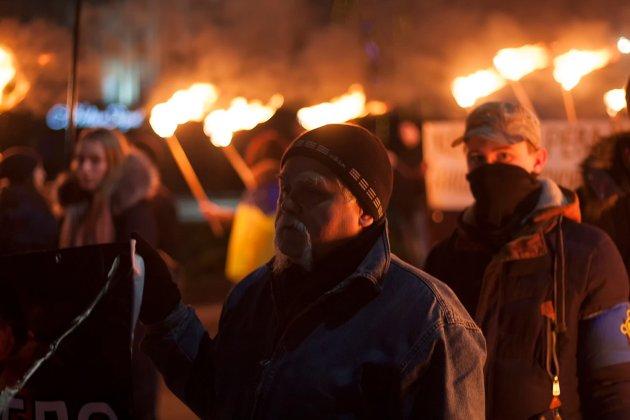 В Украине отпраздновали день рождения Степана Бандеры 2