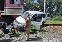 ДТП у смт Кегичівка: зіткнення поїзда з мікроавтобусом