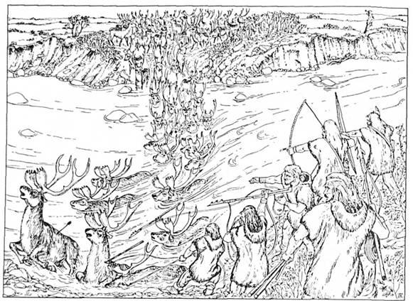 Охотники приледниковой гор, Охотники на северного оленя ...