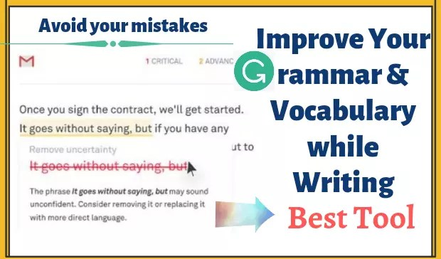 Improve grammar and vocabulary while writing