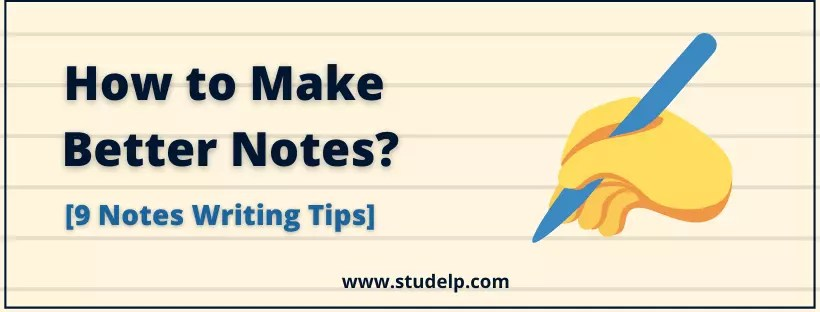 notes writing tips : how to take notes