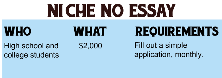 No essay scholarships for high school students