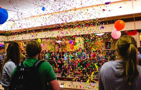 """Confetti storm during """"The Reveal"""""""