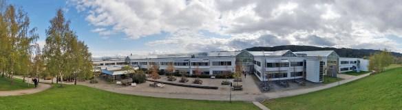 Campus Dragvoll, som gir meg muligheten til å løpe eller gå en skitur mellom forelesninger, eller gå 150 meter for å trene innendørs med utmerkede fasiliteter (Foto: Stig Sund/NTNU NT).